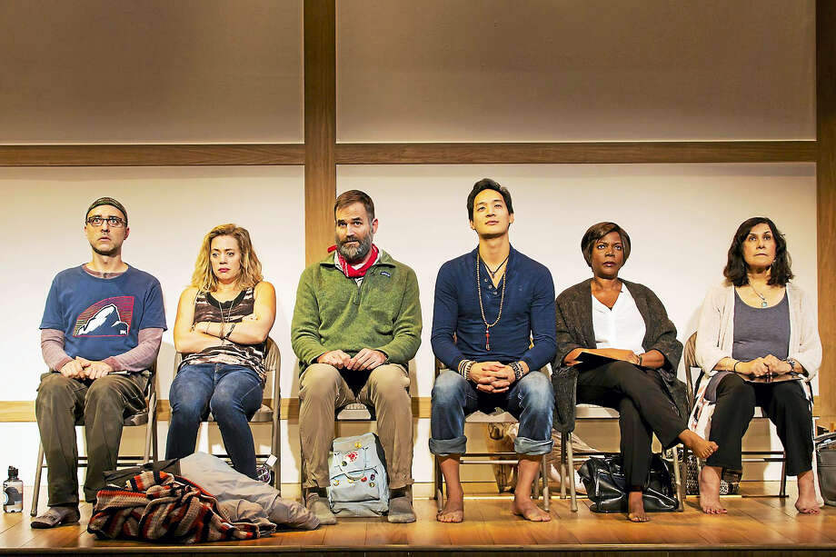 """From left, Ben Beckley, Brenna Palughi, Connor Barrett, Edward Chin-Lyn, Cherene Snow and Socorro Santiago in """"Small Mouth Sounds."""" Photo: Photo Courtesy Of T. Charles Erickson / Long Wharf Theatre"""