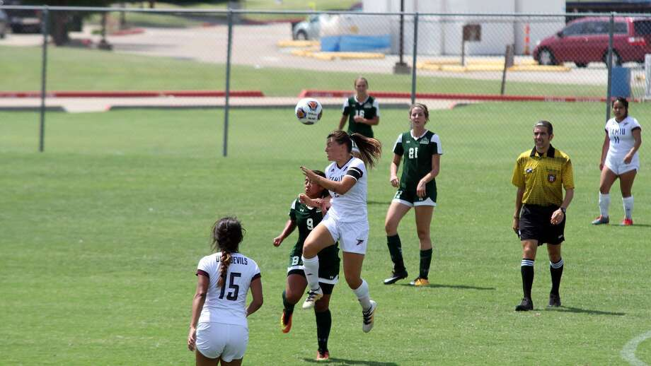 Sophomore forward Cio Bargallo is leading the nation in goals scored as the Dustdevils head to Newman and Rogers State this week. Photo: Courtesy Of TAMIU Athletics, File
