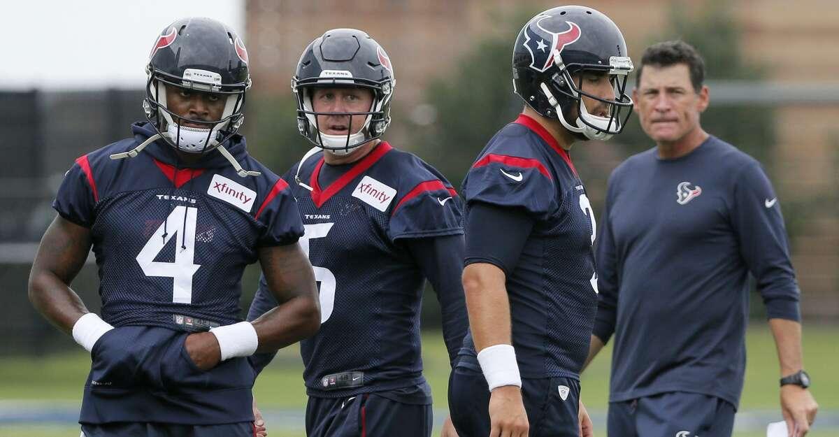 Quarterback (3) In: Tom Savage, Deshaun Watson, Brandon Weeden