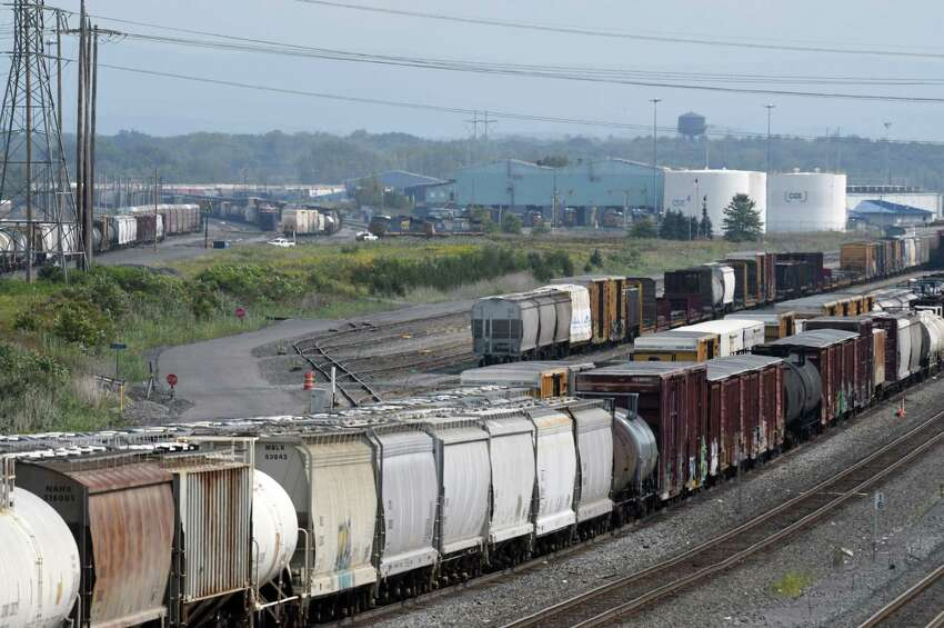 View of the CSX Selkirk railyard from Feura Bush Road on Thursday, Aug. 31, 2017, in Feura Bush, N.Y. (Will Waldron/Times Union)
