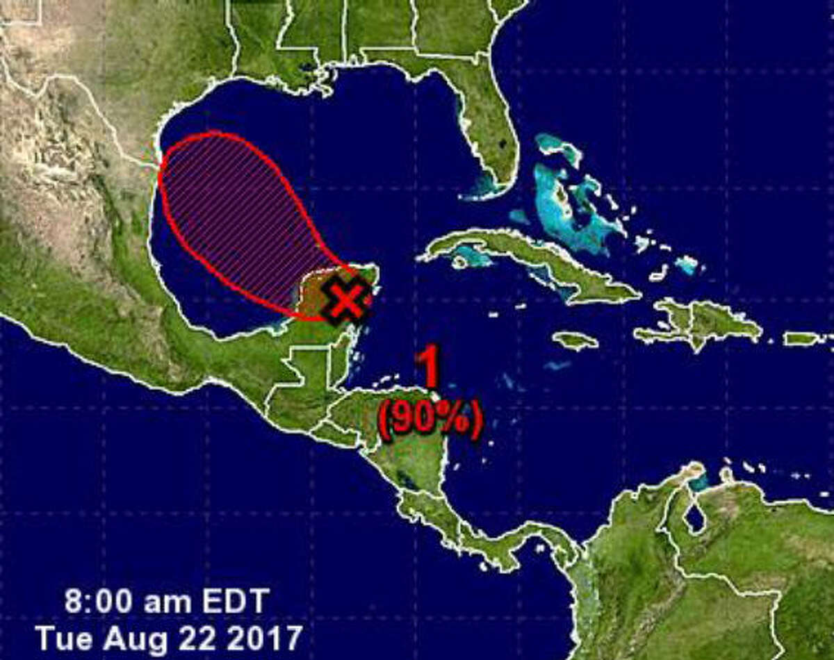 """Tuesday, Aug. 22, 2017 At the time, the path of the storm was uncertain, but the weather service said there was the possibility of a Category 1 hurricane making landfall on the lower to middle Texas coast. However, they were clear that the path and intensity were uncertain. The alert from the weather service said: """"Flooding from heavy rainfall may be greatest concern,"""" and """"Basin averages of 4 to 8 inches are likely but could well be double or higher (if) storm takes that slower track."""""""