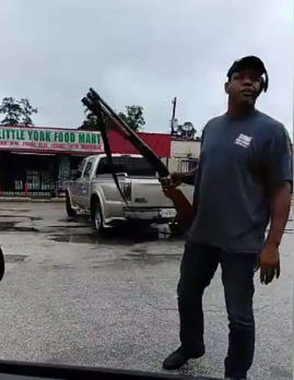 Nash John of Houston has become viral after a Facebook video showed him fighting off would-be looters from a Little York Food Mart in North Harris County with a shotgun on Aug. 8, 2017.See more images of rescues in East Texas during Hurricane Harvey.