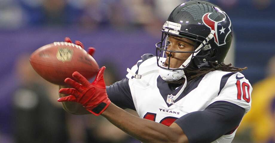 Texans receiver DeAndre Hopkins agreed to a five-year contract extension today. Photo: ANDY KING/AP