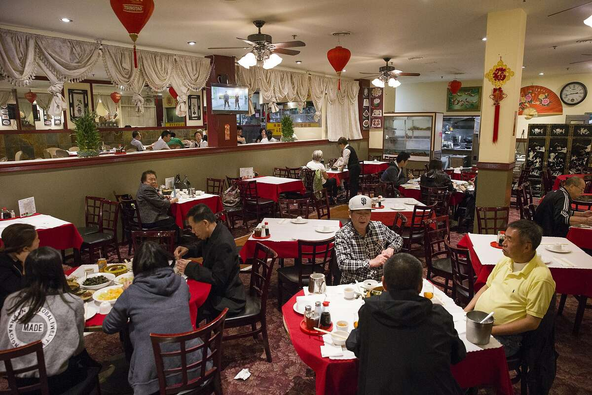 Customers at the Imperial Palace Restaurant on Tuesday, Aug. 29, 2017, in San Francisco, Calif. The Imperial Palace was formerly the Golden Dragon Restaurant, where the Golden Dragon Massacre took place on Sept. 4, 1977.