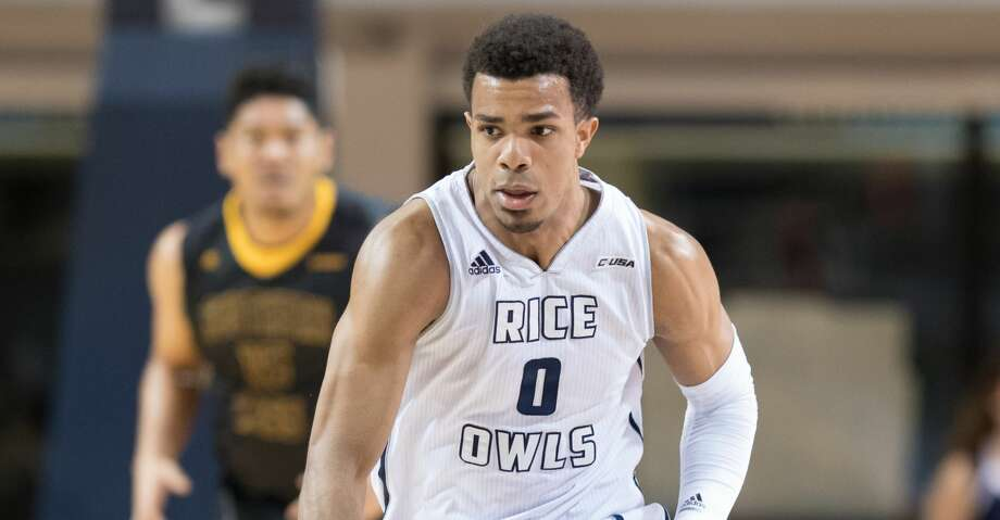Connor Cashaw (0) of the Rice Owls brings the ball up the court against the Southern Miss Golden Eagles in a college basketball game on Thursday, February 23, 2017 at Tudor Fieldhouse on Rice Campus. Photo: Wilf Thorne/For The Chronicle