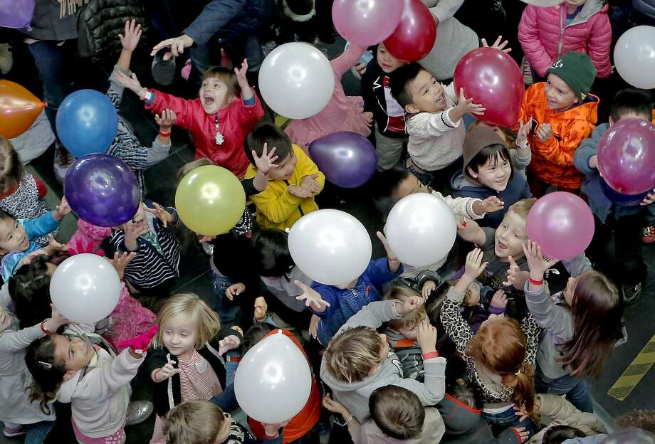 Balloons: possible weaponry? Photo: Michael Macor, The Chronicle