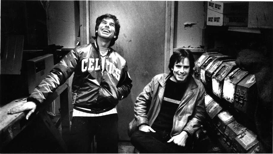 Mickey Hart and Bob Weir in 1985. Photo: Tom Levy, The Chronicle