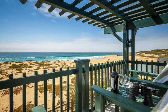 Decks and balconies at Sanctuary Beach Resort in Marina offer either ocean or dune views.