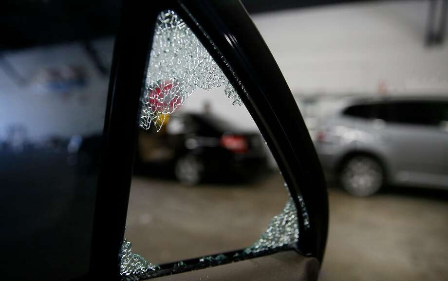 This car at TLC Auto Glass in San Francisco had its passenger rear window broken twice in one week in August.Click through the gallery to see the 10 worst blocks for car break-ins in San Francisco in descending order. Photo: Liz Hafalia, The Chronicle