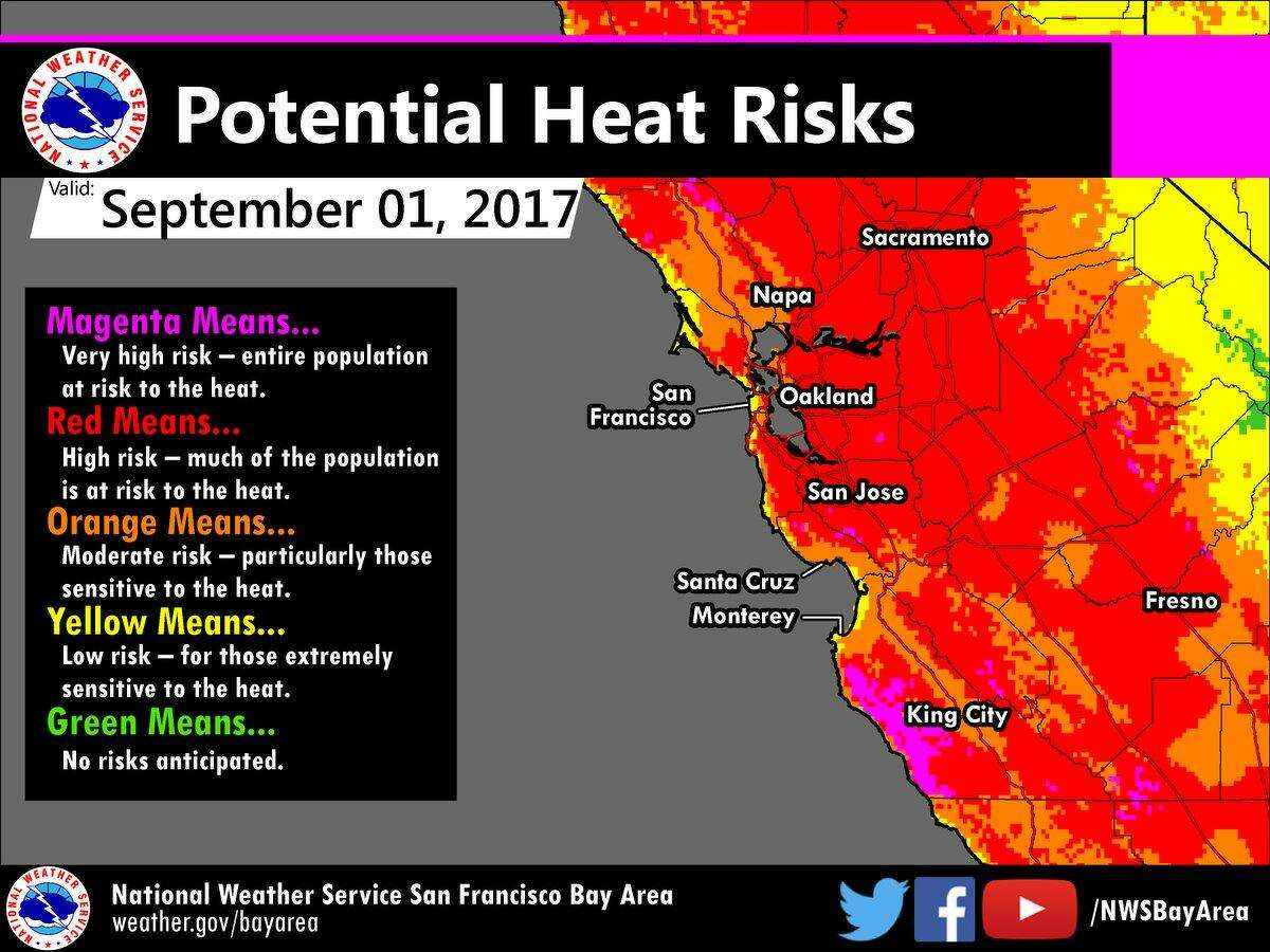 The National Weather Service advises Bay Area residents to stay hydrated and stay indoors during this unseasonably warm Labor Day weekend.