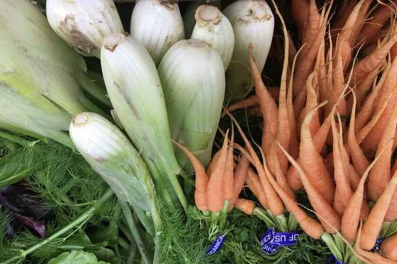 Root vegetables like turnips, carrots and fennel can be found at winter time farmers' markets.