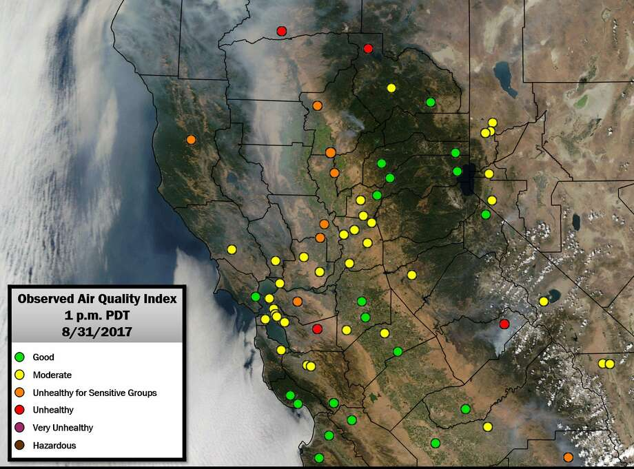 Smoke from NorCal wildfires spilling into the scorching-hot Bay ...