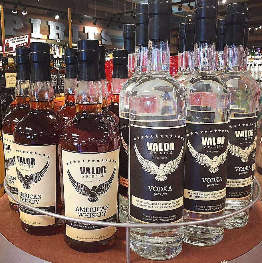 Valor Spirits vodka and whisky on display at Stew Leonard's Wines in Danbury, Conn., on Thursday, Aug. 24, 2017. Photo: Chris Bosak / Hearst Connecticut Media / The News-Times