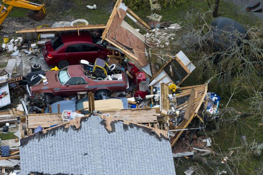 Aerial photography of Hurricane Harvey damage at Port Aransas, Texas, August 28, 2017.>>Photos of the destruction in Southeast Texas Photo: By Malcolm McClendon, DVIDS