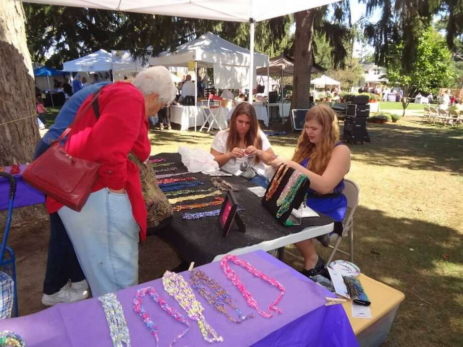 The Trumbull Arts Festival will feature about 50 artists and crafters on Sunday, Sept. 10, on the Town Hall Green. Photo: Trumbull Arts Festival / Contributed Photo
