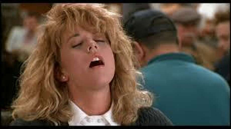 "Meg Ryan let it all hang out in the throes of the famous orgasm scene in ""When Harry Met Sally."" Photo: Courtesy Photo"