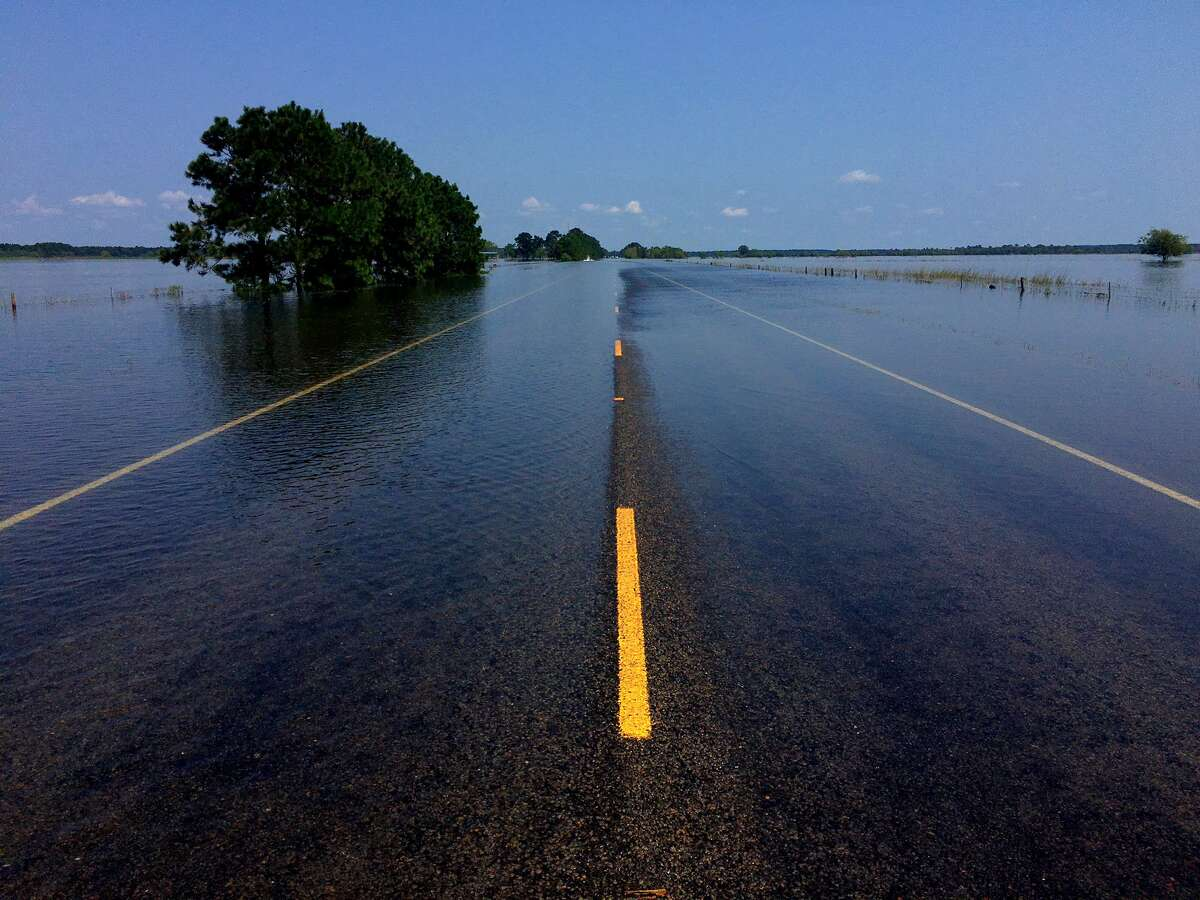 326 between China and Sour Lake is closed due to flooding. Sept. 1, 2017.