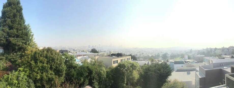 The view of San Francisco's smoke-filled sky on Sept. 1, 2017 Photo: Michael David Rose / IPhone Photo