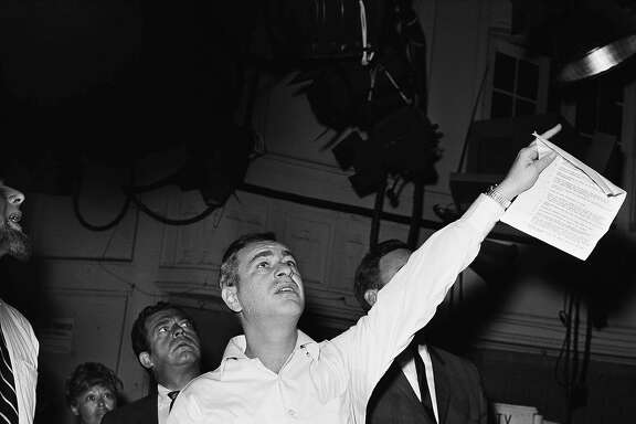 Shown is photo is Comedian Shelley Berman on August 6, 1962 in New York City. (AP Photo/Kradin)