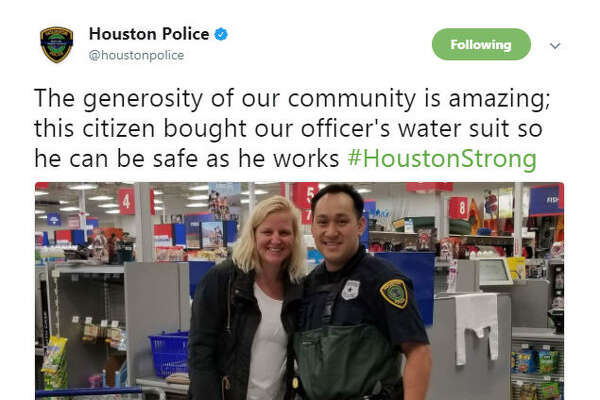The unshakable Houston spirit reflected on social media as people began posting using #HoustonStrong  via  social media