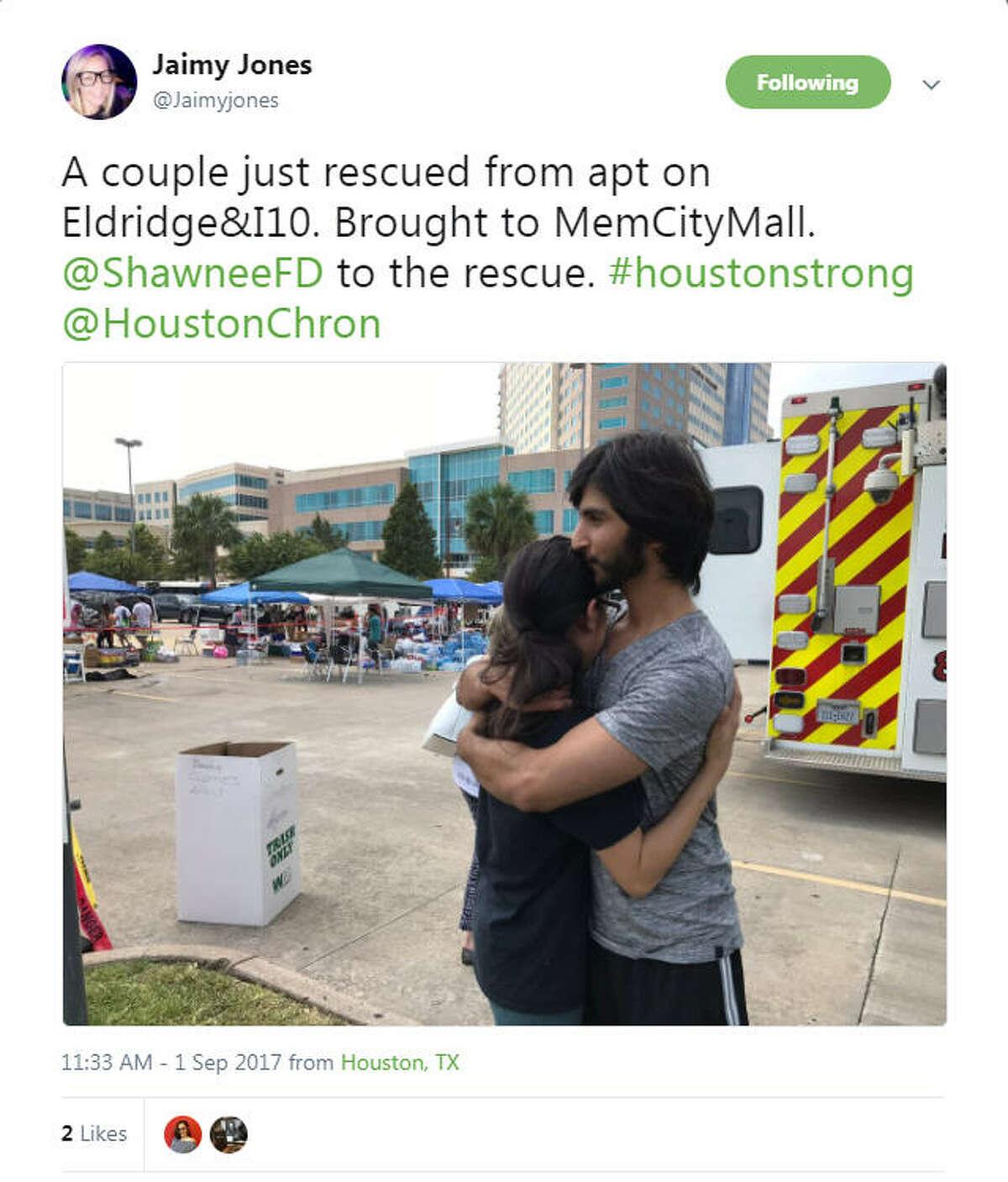 The unshakable Houston spirit reflected on social media as people began posting using #HoustonStrong via social media