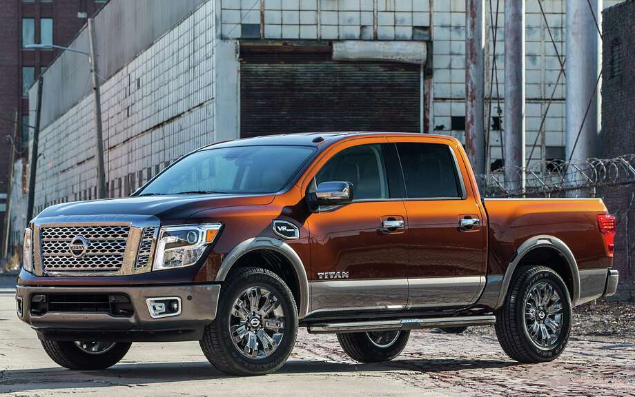 Nissan's all-new 2017 Titan Crew Cab half-ton pickup, which comes with a V-8 gasoline engine, is now available at Nissan dealers nationwide. A V-6 engine and both Single and King Cab versions are also in the mix this year. Photo: Nissan / © 2016 Nissan