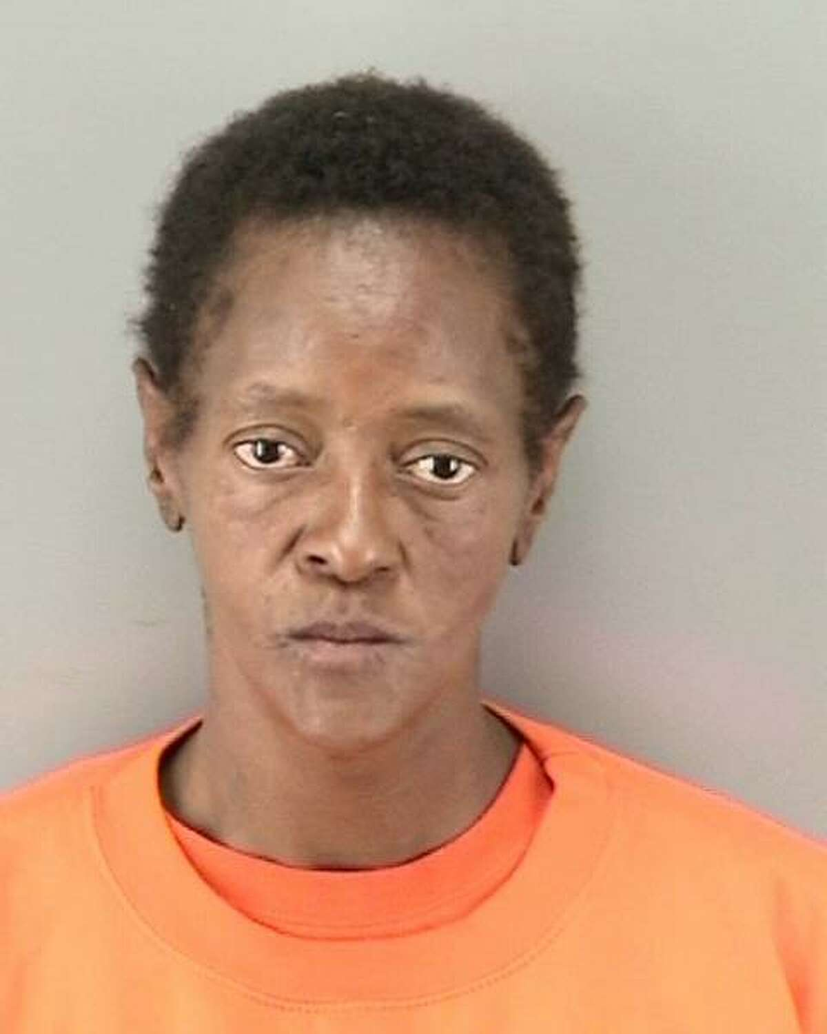 Jacqueline Miller, 51, was arrested on suspicion of an aggravated assault and elder abuse hate crime, police said.