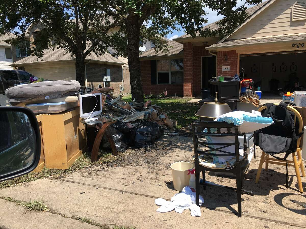 Readers share photos of cleanup efforts after Hurricane Harvey wreaked havoc across Houston.
