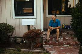 Larry Blair photographed on his front porch in San Mateo, Calif. Thursday, August 31, 2017.