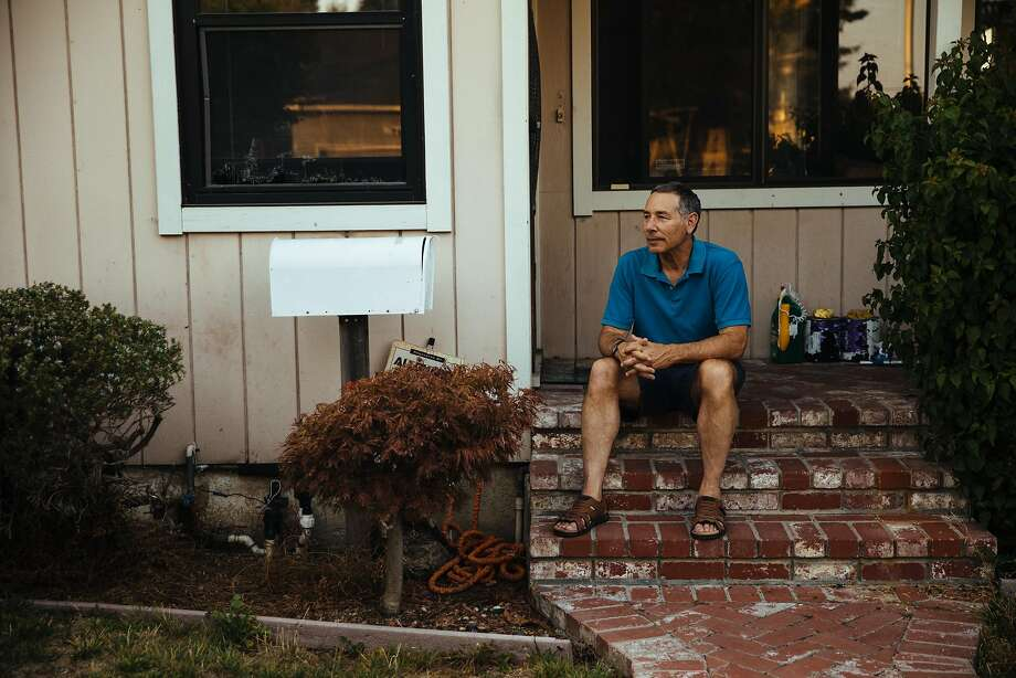 Larry Blair photographed on his front porch in San Mateo, Calif. Thursday, August 31, 2017. Photo: Mason Trinca, Special To The Chronicle