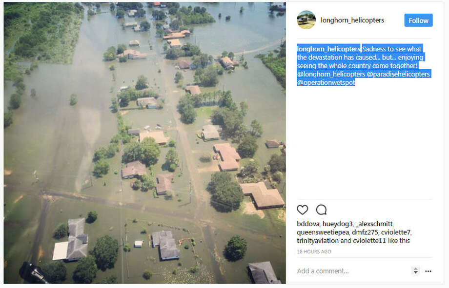 longhorn_helicopters: Sadness to see what the devastation has caused... but... enjoying seeing the whole country come together! @longhorn_helicopters @paradisehelicopters @operationwetspot Photo: Longhorn_helicopters / Instagram