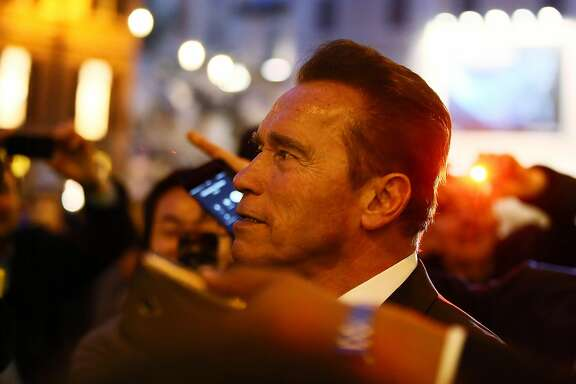 ROME, ITALY - JANUARY 25:  Actor Arnold Schwarzenegger is seen at Piazza Di Spagna on January 25, 2017 in Rome, Italy.  (Photo by Ernesto Ruscio/GC Images)