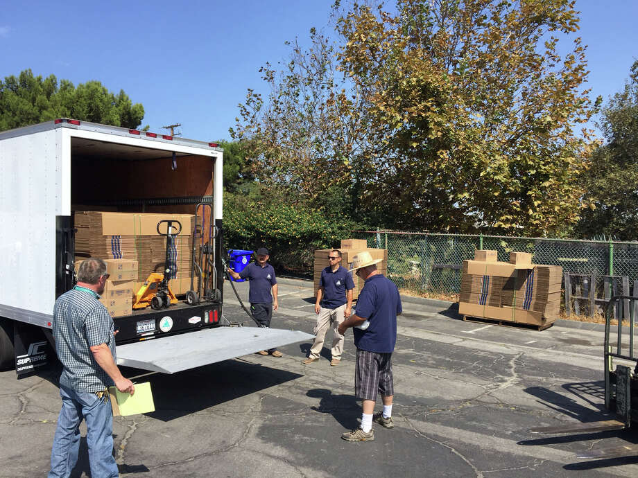 On Friday,2,000 boxes were donated to the ACT campaign and are heading to the nine collection locations around Manhattan Beach, Calif. Photo: Submitted