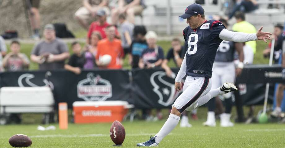 Texans kicker Nick Novak was cut Saturday one season after making a franchise-record 35 field goals. Photo: Brett Coomer/Houston Chronicle