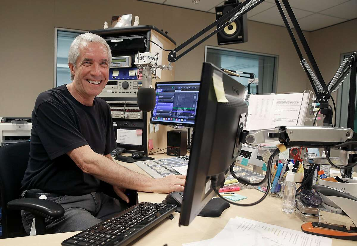 KDFC host Hoyt Smith shows the radio station on Thursday, August 31, 2017, in San Francisco, Calif.