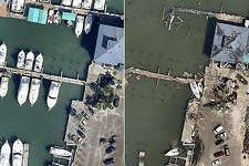 Before and after images of Hurricane Harvey storm damage from Nearmap