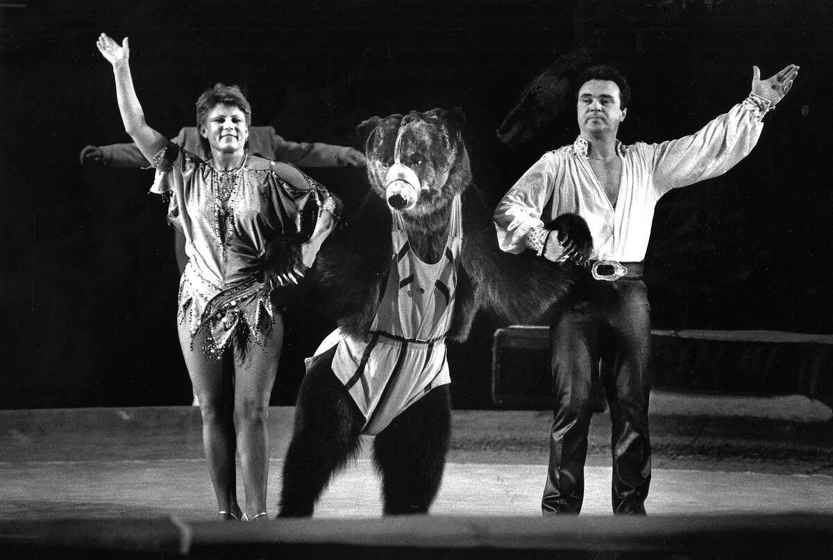 The bear act of the Moscow Circus at the Cow Palace on March 29, 1990.