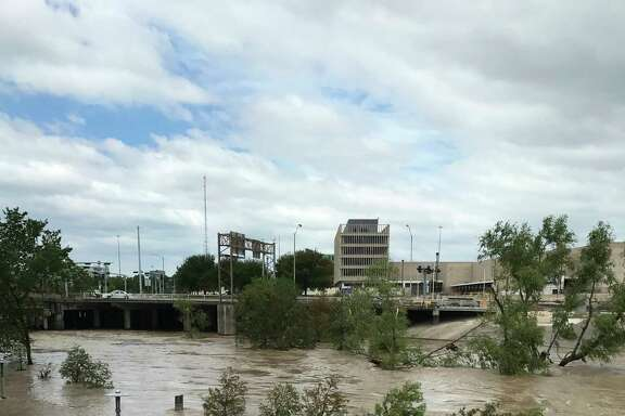 Buffalo Bayou in downtown Houston this week was less than hospitable when the town was new, as well.