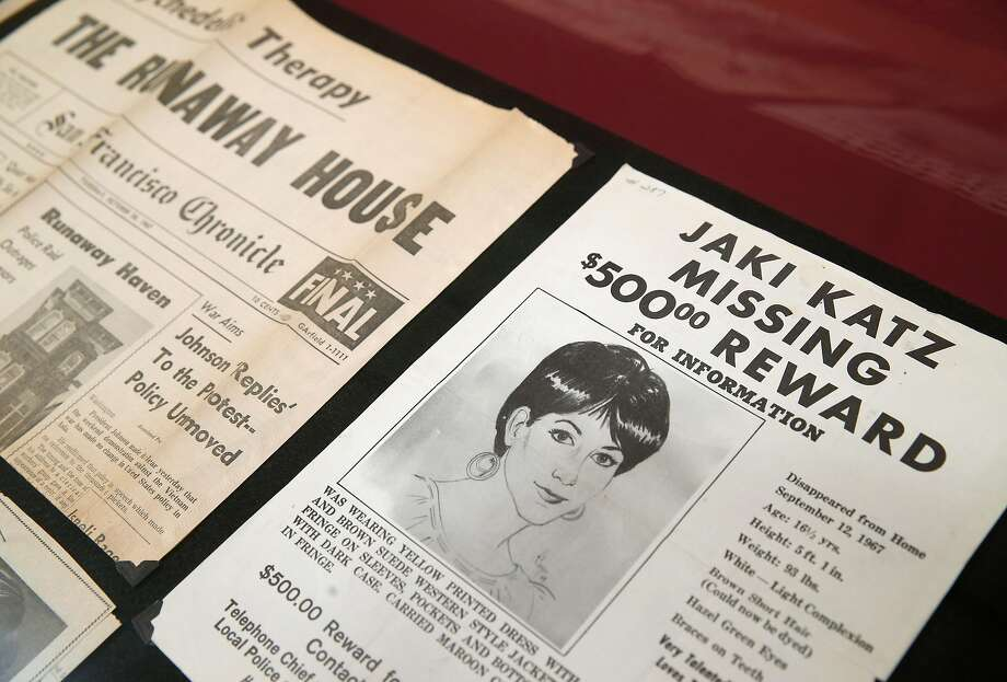 A poster from 1967 on exhibit at the S.F. Main Library seeks information on runaway teen Jaki Katz. Photo: Paul Chinn, The Chronicle