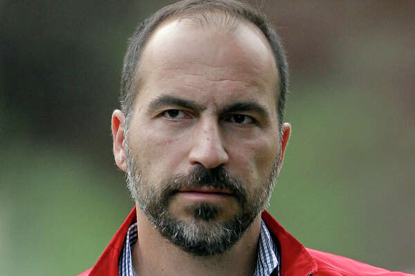 FILE - In this July 13, 2012, file photo, Expedia CEO Dara Khosrowshahi attends the Allen & Company Sun Valley Conference in Sun Valley, Idaho. New Uber CEO Khosrowshahi will begin work with an employee meeting Wednesday, Aug. 30, 2017, at the company's San Francisco headquarters. (AP Photo/Paul Sakuma, File)