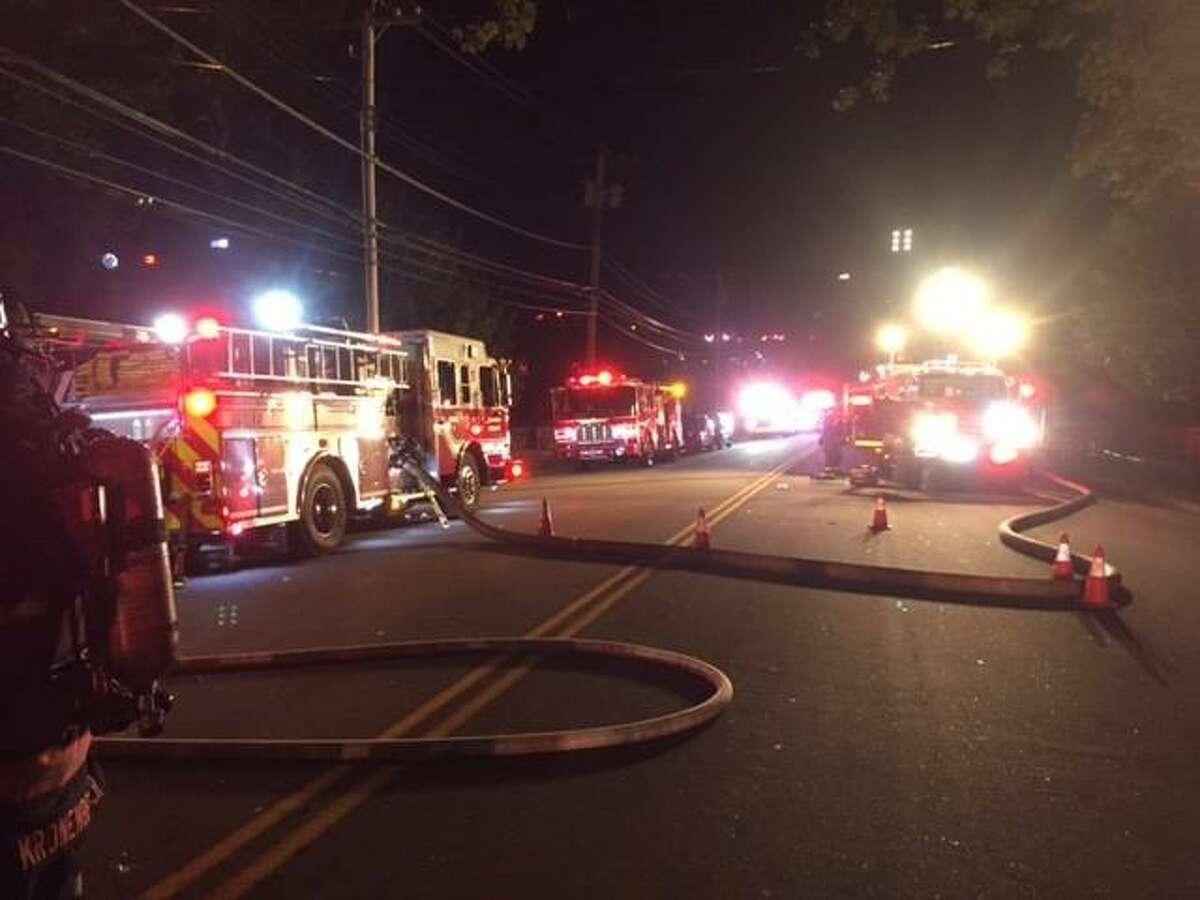 Fairfield firefighters respond to an early morning fire Saturday on Old Post Road.