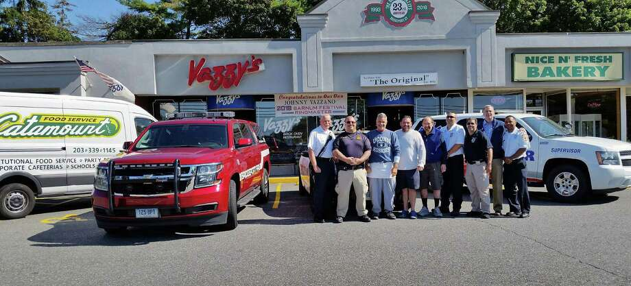 American Medial Relief (AMR) and Bridgeport's police and fire departments will gather on Wednesday, Sept. 6 outside Vazzy's Restaurant to collect proceeds for Texas, said Regional Director Bill Schietinger for the East Region of AMR. Working with the city's Office of Emergency Management, the agencies will be collecting items to bring down to Texas, as well. The items will be driven down in a tractor trailer truck for distribution. Photo: Contributed Photo / Contributed Photo / Connecticut Post Contributed