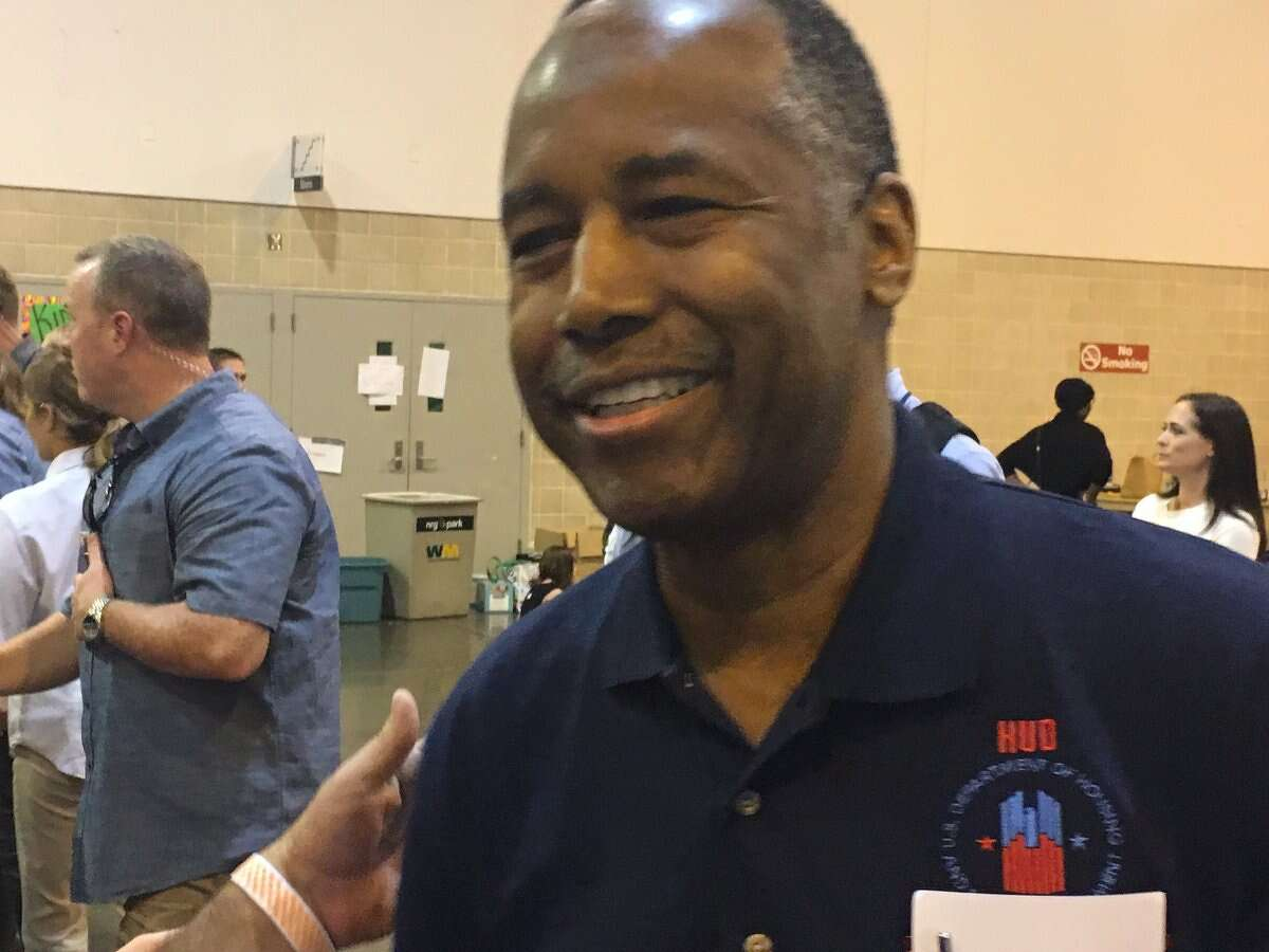 HUD Secretary Ben Carson in Houston recently