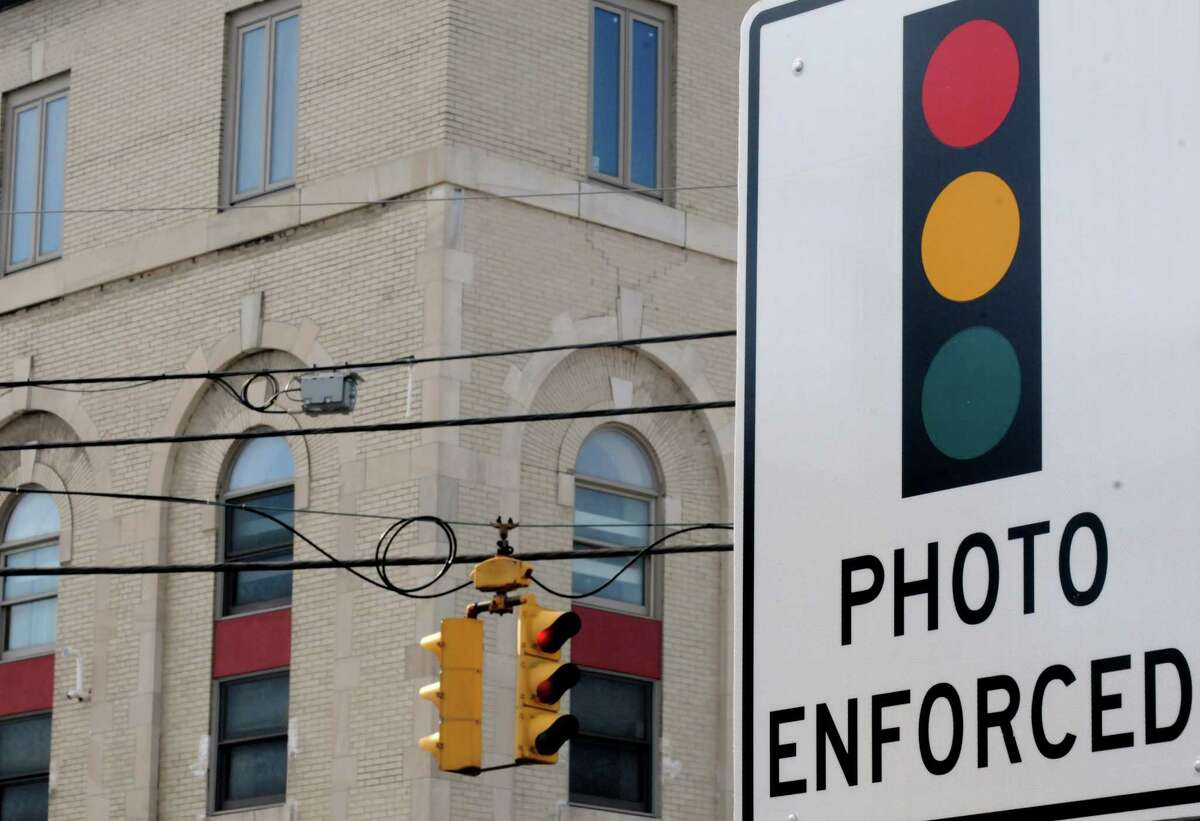 A red light camera intersection at the corner of Quail Street and Washington Avenue on Tuesday March 1, 2016 in Albany, N.Y. (Michael P. Farrell/Times Union)