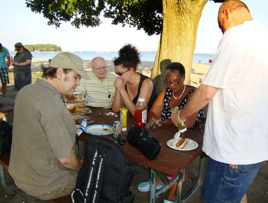 Members of Friendship House, a group of special needs adults, meet at Shady Beach for their monthly dinner and social outing. The group meets on the last Tuesday of every month. Photo: Contributed Photo / Norwalk Hour contributed