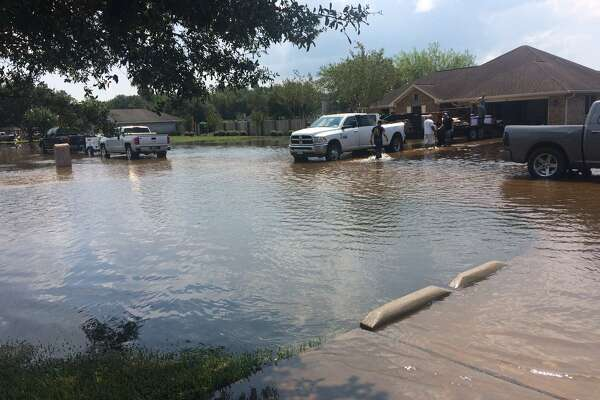 A home in Winnie that flooded.    Photo: Danny Shapiro