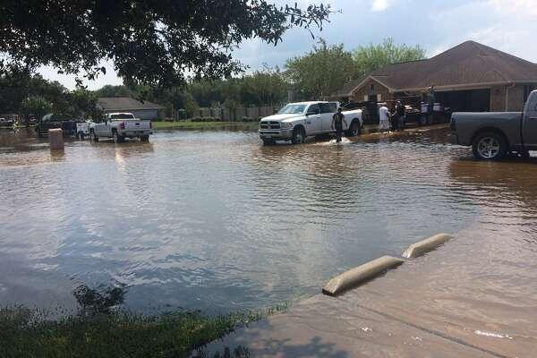 A home in Winnie that flooded.    Photo: Danny Shapiro