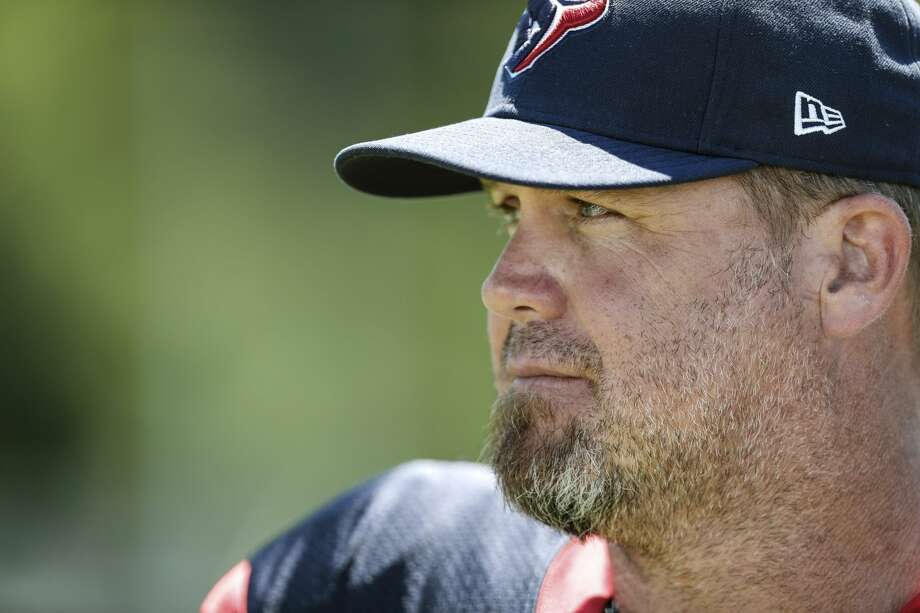 Houston Texans punter Shane Lechler looks across the field during training camp at the Greenbrier on Sunday, July 30, 2017, in White Sulphur Springs, W.Va. ( Brett Coomer / Houston Chronicle ) Photo: Brett Coomer/Houston Chronicle
