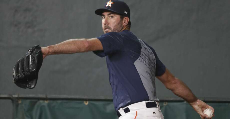 the best attitude 307fa 36138 Justin Verlander to wear No. 35 for Astros - Houston Chronicle