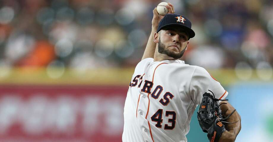 Houston Astros starting pitcher Lance McCullers (43) pitches during the first inning of an MLB game at Minute Maid Park, Tuesday, Aug. 2, 2016, in Houston. ( Karen Warren  / Houston Chronicle ) Photo: Karen Warren/Houston Chronicle